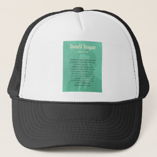 President Ronald Reagan Quote Trucker Hat