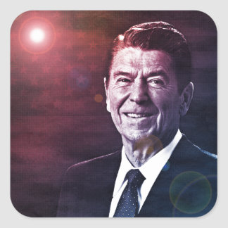 President Ronald Reagan Square Sticker