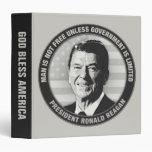 President Ronald Reagan Vinyl Binder