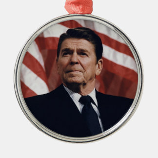 President Ronald Wilson Reagan Metal Ornament