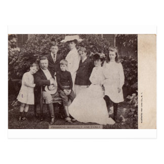 President Roosevelt and Family circa 1903 Postcard
