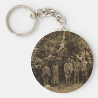 President Roosevelt and John Muir '03 (Sepia) Basic Round Button Keychain