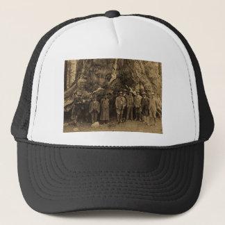 President Roosevelt and John Muir Beneath (Sepia) Trucker Hat