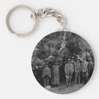 President Roosevelt and John Muir California 1903 Basic Round Button Keychain