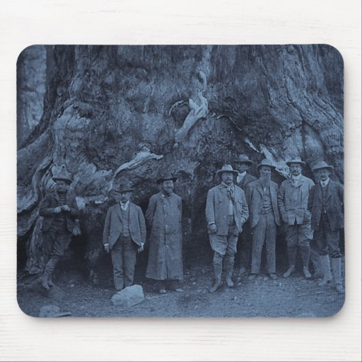 President Roosevelt and John Muir  --  (Cyan) Mouse Pad