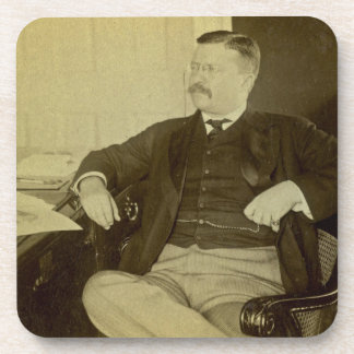 President Roosevelt at His Desk in White House Coasters