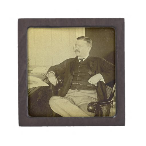 President Roosevelt at His Desk in White House Premium Trinket Box