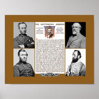 President s Day Tribute Gettysburg Address Poster