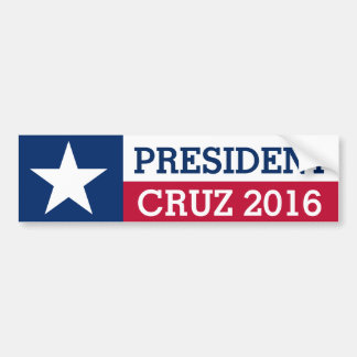 President Ted Cruz 2016 Election Texas Flag Bumper Sticker