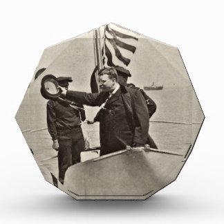 President Teddy Roosevelt on Algonquin Bull Moose Acrylic Award
