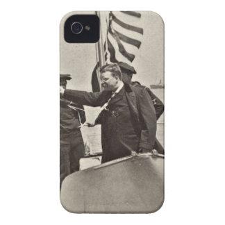 President Teddy Roosevelt on Algonquin Bull Moose iPhone 4 Cover