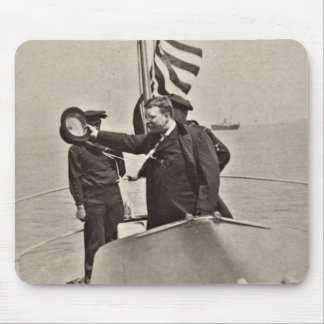 President Teddy Roosevelt on Algonquin Bull Moose Mouse Pad