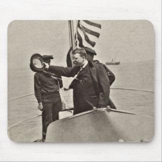 President Teddy Roosevelt on Algonquin Bull Moose Mouse Pad