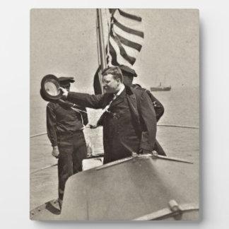 President Teddy Roosevelt on Algonquin Bull Moose Plaque