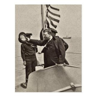 President Teddy Roosevelt on Algonquin Bull Moose Postcard