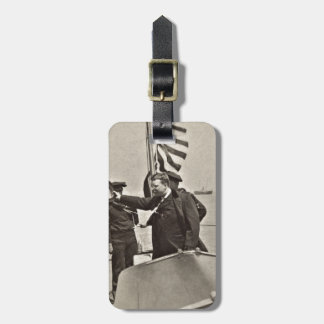 President Teddy Roosevelt on Algonquin Bull Moose Tag For Luggage