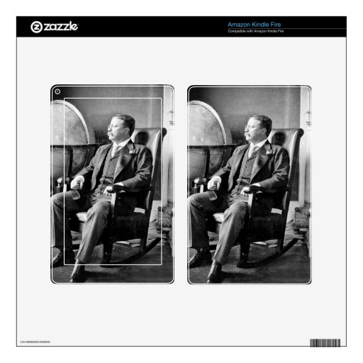 President Teddy Roosevelt Vintage White House Decals For Kindle Fire