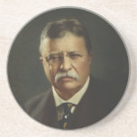 President Theodore Roosevelt by Forbes Lithography Drink Coaster