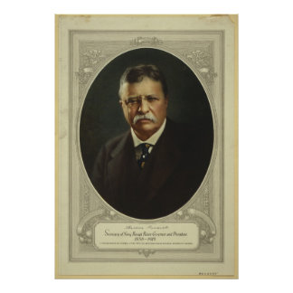 President Theodore Roosevelt by Forbes Lithography Poster