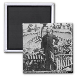 President Theodore Roosevelt in Wyoming 2 Inch Square Magnet