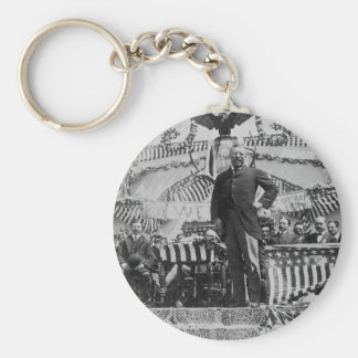 President Theodore Roosevelt in Wyoming Basic Round Button Keychain
