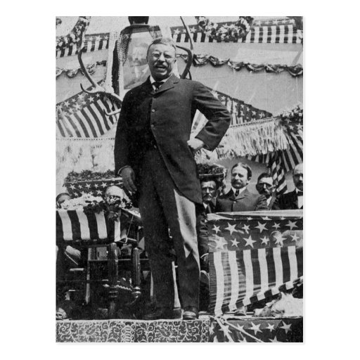 President Theodore Roosevelt in Wyoming Post Card