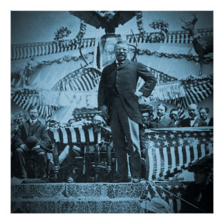 President Theodore Roosevelt on Campaign Trail 03 Print