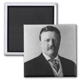 President Theodore Roosevelt Portrait 2 Inch Square Magnet