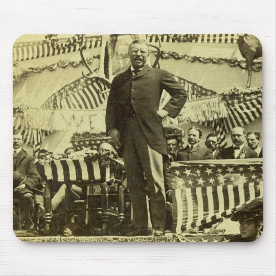 President Theodore Roosevelt Speaking 1903 Mouse Pad