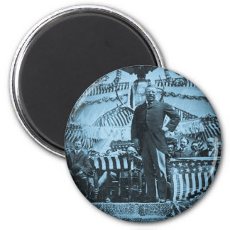 President Theodore Roosevelt Speaking in Wyoming 2 Inch Round Magnet