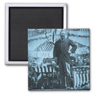 President Theodore Roosevelt Speaking in Wyoming 2 Inch Square Magnet