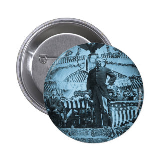 President Theodore Roosevelt Speaking in Wyoming Buttons