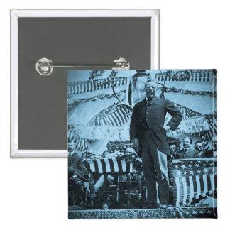 President Theodore Roosevelt Speaking in Wyoming Pinback Button