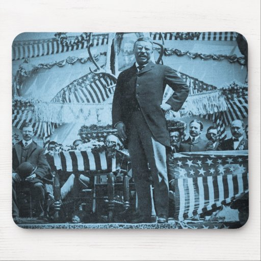 President Theodore Roosevelt Speaking in Wyoming Mousepad