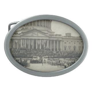 President Theodore Roosevelt Taking Oath of Office Oval Belt Buckle