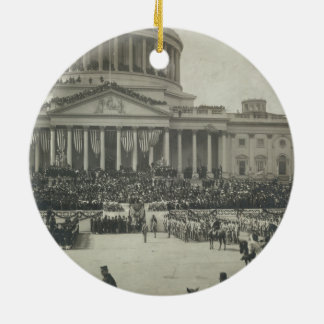President Theodore Roosevelt Taking Oath of Office Ceramic Ornament
