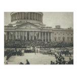 President Theodore Roosevelt Taking Oath of Office Postcard