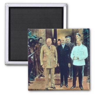 President Truman and Joseph Stalin 2 Inch Square Magnet