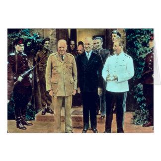 President Truman and Joseph Stalin Card
