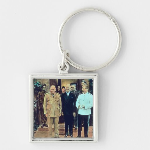 President Truman and Joseph Stalin Key Chains