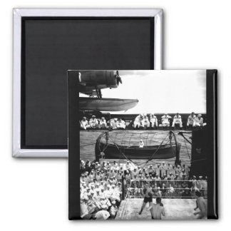 President Truman and party aboard USS_War Image 2 Inch Square Magnet