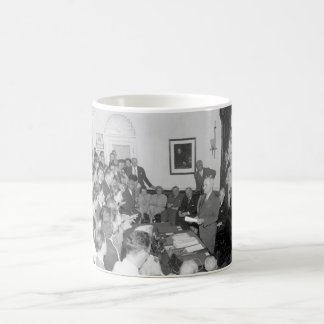 President Truman announces Japan's_War Image Coffee Mug