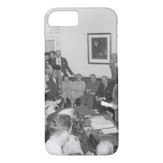 President Truman announces Japan's_War Image iPhone 7 Case