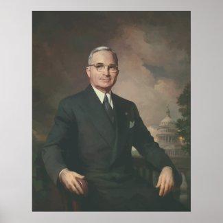 President Truman Painting print