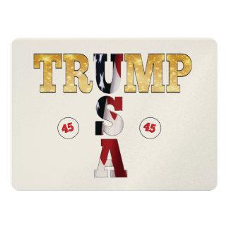 President Trump 45 USA Gold Glitter Flag Color Card