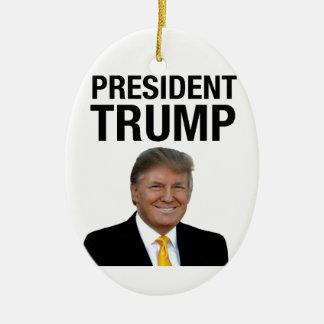 President Trump Ceramic Ornament