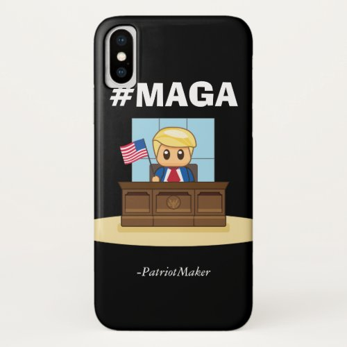 President Trump MAGA Oval Office iPhone Case Phone Case