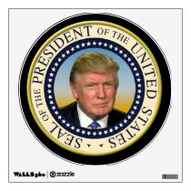President Trump Photo Presidential Seal Wall Decal