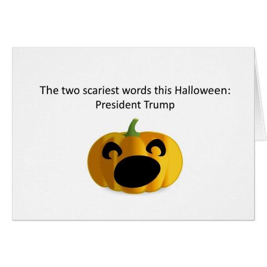 President Trump scary Halloween card