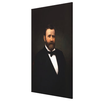 PRESIDENT ULYSSES S. GRANT Portrait Print Stretched Canvas Print